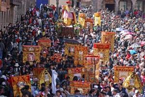 Corpus rite in Cusco